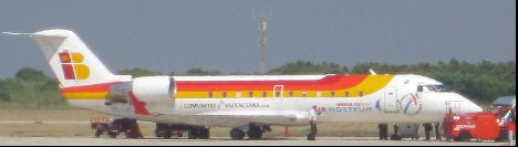 Air nostrum plane from bombardier CRJ200