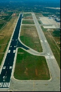 Runway at Mahon airport