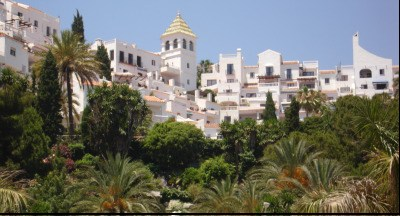 Nerja whitewashed buildings