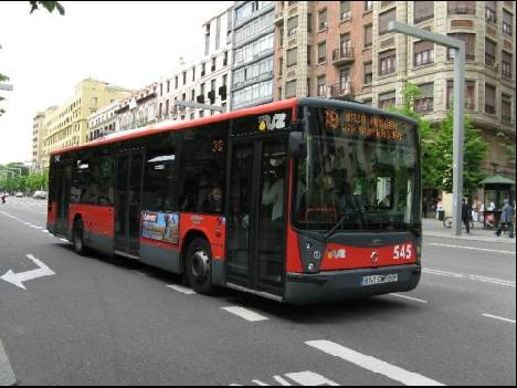 Zaragozas buses are clean and modern