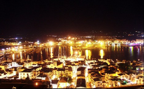 Ibiza at night