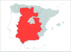 Spains principal Jamon producing regions