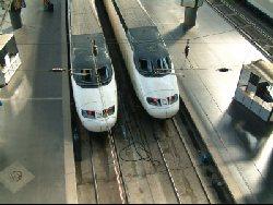 High speed trains in Madrid Atocha