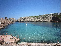 Cala Morell beach in Menorca