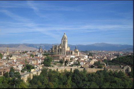 Segovias old medieval city