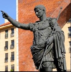 Statue of Zaragozas founding father Roman emperor Augustus