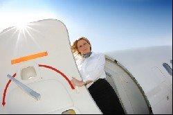 Embarking on aeroplane