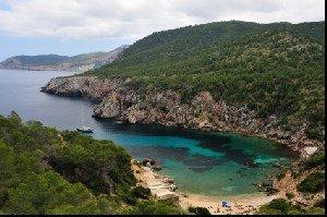 Ibiza coast bay shore