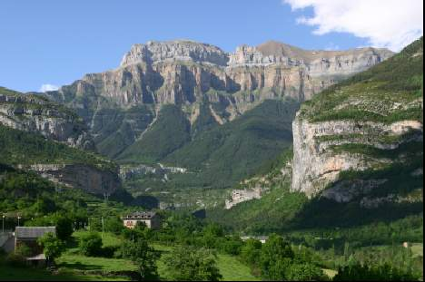 Torla gateway to the Spanish Pyrennes